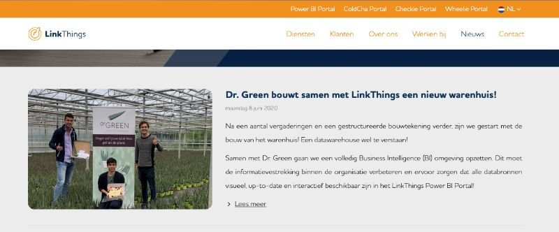 Dr. Green samenwerking met LinkThings.nl