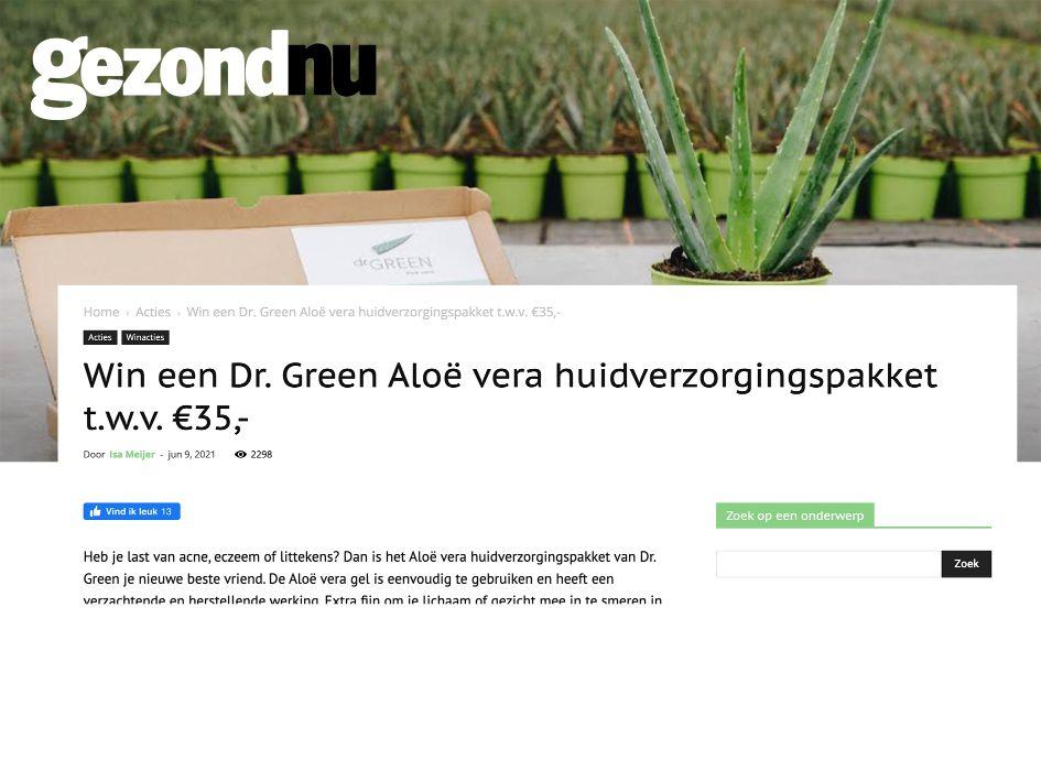 GezondNU Dr Green