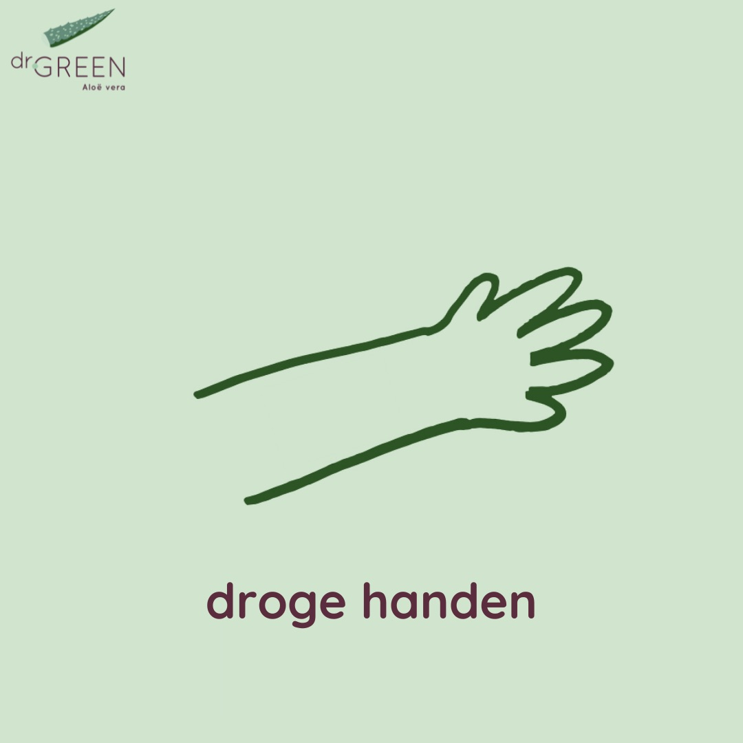 Droge handen icoon - Dr. Green Aloë vera